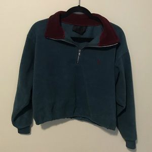 CROPPED (POLO DUPE) QUARTER ZIP